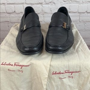 Salvatore Ferragamo Black Loafer with Dust bags